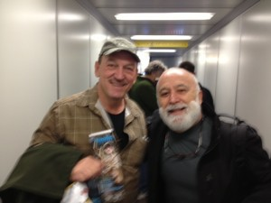 En route back to Phoenix from New Orleans, Dr. Jack Dillenberg meets Troy the star of Swamp People.
