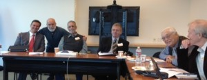 Dr. Jack Dillenberg meets with other COH board members in Los Angeles.