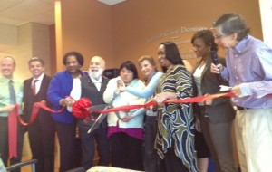 The ribbon cutting celebrates the opening of the dental facility at the King-Chavez Community Health Center.