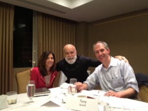 Dr. Jack Dillenberg visits with APTR's President Tony Schalff and Executive Director Allison Lewis.