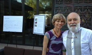 Dr. Jack Dillenberg poses with fiancé, Jamalee Moret, at the Sip, Savor, and Socialized event.