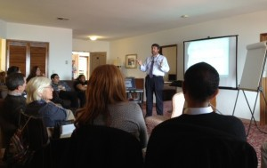 Dr. Wayne Kottam presents a session at UCSD.
