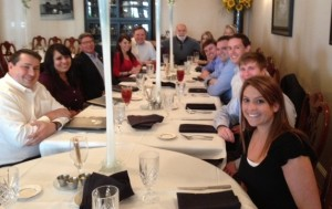 Dr. Jack Dillenberg joins the Sarrell team for lunch.