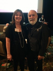 Dr. Jack Dillenberg is with Sheri Dolin at the recent SARCC breakfast.