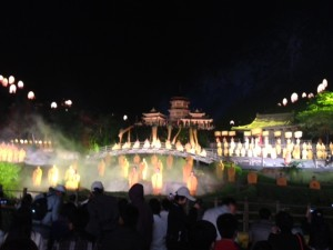 Entertainment included an evening zen musical performance.
