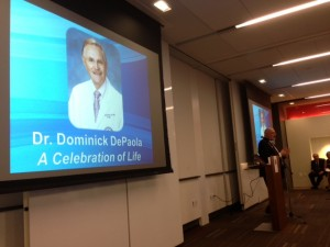 Friends celebrate and honor the life of Dr. Dom De Paolo.