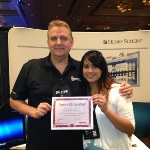 Azra Baad is recognized for Text2Floss certification on the new Dentrix 6.5 software.