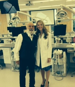 Dr. Jack Dillenberg visits MOSDOH's new sim clinic with Dr. Crutchfield, the new director.