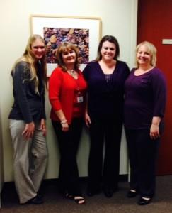 Team members of Dr. Jack Dillenberg's administrative team enjoyed the Kirksville celebrations.