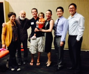 Several alums joined Dr. Jack Dillenberg at UCSD's campus.