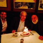 Dr. Tony Hashemian and Dr. Jack Dillenberg celebrate Dr. Allen Finkelstein's birthday.