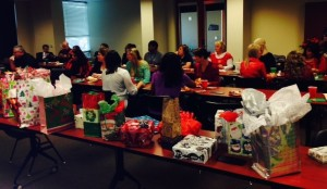 ASDOH administrative staff enjoy a holiday gift exchange.