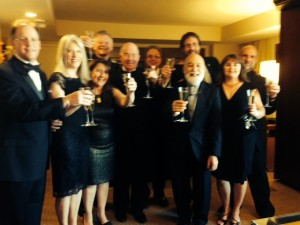 ASDOH staff and ATSU leaders celebrate at a pre-gala event.