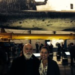 Dr. Jack Dillenberg joins Dr. Maritza Cabezas during a lunch break from the Alchemy Seminar to visit the Endeavor.