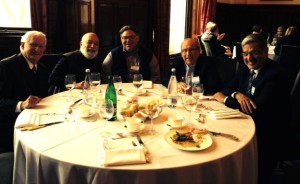 Dr. Jack Dillenberg enjoys dinner with colleagues at the SDL program.