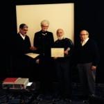 Dr. Jack Dillenberg receives a certificate at the SDL-8.