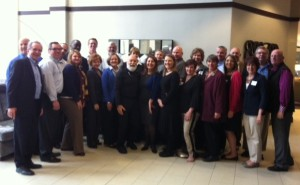 Dr. Jack Dillenberg poses with the ATSU strategic planning team.