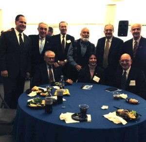 Dr. Jack Dillenberg joins colleagues for lunch at the New Jersey meeting
