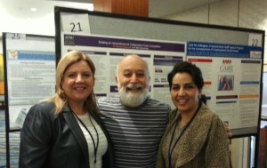 Dr. Jack Dillenberg joins Dr. Barbara Maxwell, PT and Dr. Mindy Motahari, DMD in front of Barbara's poster. Both were presentors at NAP.