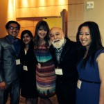 Dr. Jack Dillenberg celebrates with DTAF student awardees,