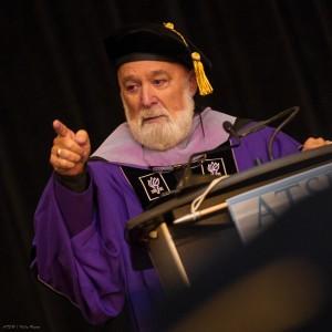 Dr. Jack Dillenberg presides over graduation.