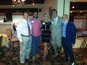 AZDA President Dr. Lisa Lear and husband Dick, join Dr. Jack Dillenberg and ASDOH alum and faculty.