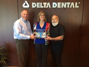 Dr. Jack with Allen Allford and Sandi Perez Arizona Delta Dental of Arizona Leaders.