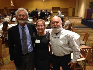 Dr. Jack joins old friends, Dr.'s Bob Esman and Maritza Cabezas at the LA Dental Forum.