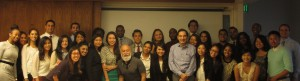 Drs.  Jack  Dillenberg and Sabah Kalamchi with SFSU post-bac students.