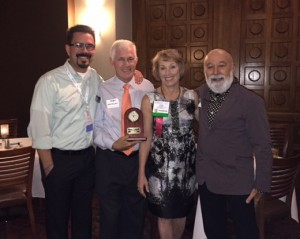 Dr. Jack Dillenberg with Dr. Linda Niessen and husband along with Dr. Isaac Navarro, ASDOH grad and ATSU board member at the alumni event.