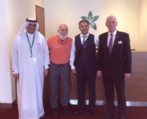 Dr. Jack Dillenberg and Dr. Tony Hashemian meet with Dubai school leaders.