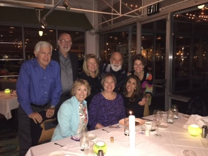 Dr. Jack joins other deans celebrating Dr. Jane Weintraub's birthday.