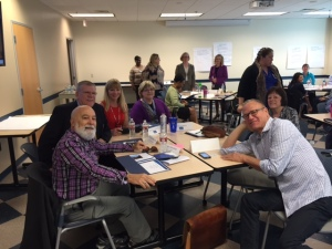 Dr. Jack enjoys time working with former colleagues at the Oral Health work group.
