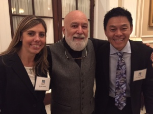Dr. Jack Dillenberg welcomes SuperChefs Dr. Gregory Chang and Dr. Jill Conklin to the Shil's board meeting.