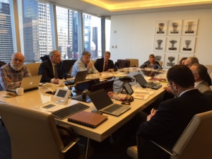 The Alliance work group meet in New York.