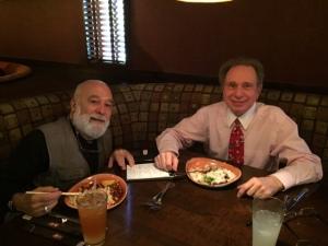 Dean Dillenberg reviews ASDOH mid-year progress with Senior VP for Academic Affairs, Dr. Norm Gevitz.
