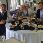 Dr. Jack Dillenberg enjoys dinner with Dr. Ernesto Rivera Claise and colleagues.