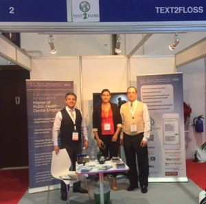 Dr. Tony Hashemian, Azra Baab, and Dr. Don Altman spend time at the Text2Floss booth.