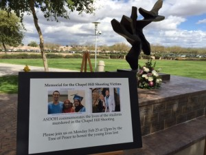 ATSU sponsored a memorial service for UNC students.