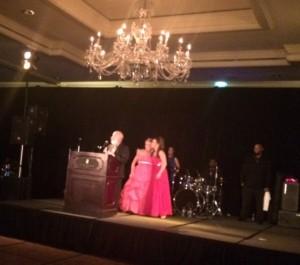 Dr. Jack Dillenberg receives award for ASDOH's service.