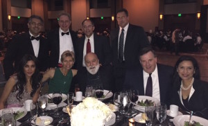 Dr. Jack Dillenberg and guests enjoy themselves at the Founders Ball.