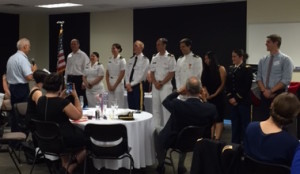 Military inductees take their oath of service.