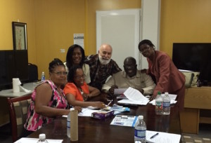 Dr. Jack Dillenberg meets with Jamaican dental leaders to discuss potential Text2Floss collaboration.