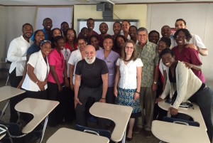 Dr. Jack Dillenberg and ASDOH faculty interact with University Tech students.