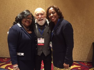 Dr. Jack visits with long time friends and colleagues, Drs Cherae Farmer-Dixon and Janet Sutherland from Meharry Medical College School of Dentistry.