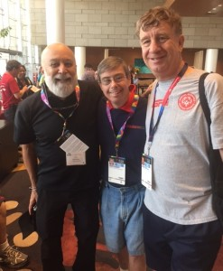 Dr. Jack, Eddie and Bill Alford, Harvard Associate Dean, reconnect for the first time since the Athens games.