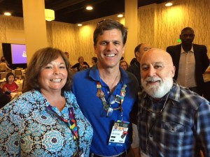 Dr. Maureen Perri and Dr. Maureen Perri and Dr. Jack  Dillenberg join Tim Schriver, CEO of Special Olympics.