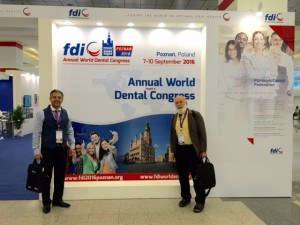 Dr. Jack Dillenberg and Dr. Tony Hashemian arrive at FDI for their presentations.