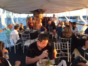 PDS Institute members enjoy dinner on the Electra Dinner Cruise.
