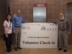 Gilbert mayor, John Long, and Dr. Mai Ley Duong join Dr. Jack for the 5th annual ASDOH Day for Special Smiles event.